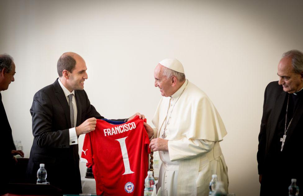 Papa Francisco recibió a Sergio Jadue - AS Chile