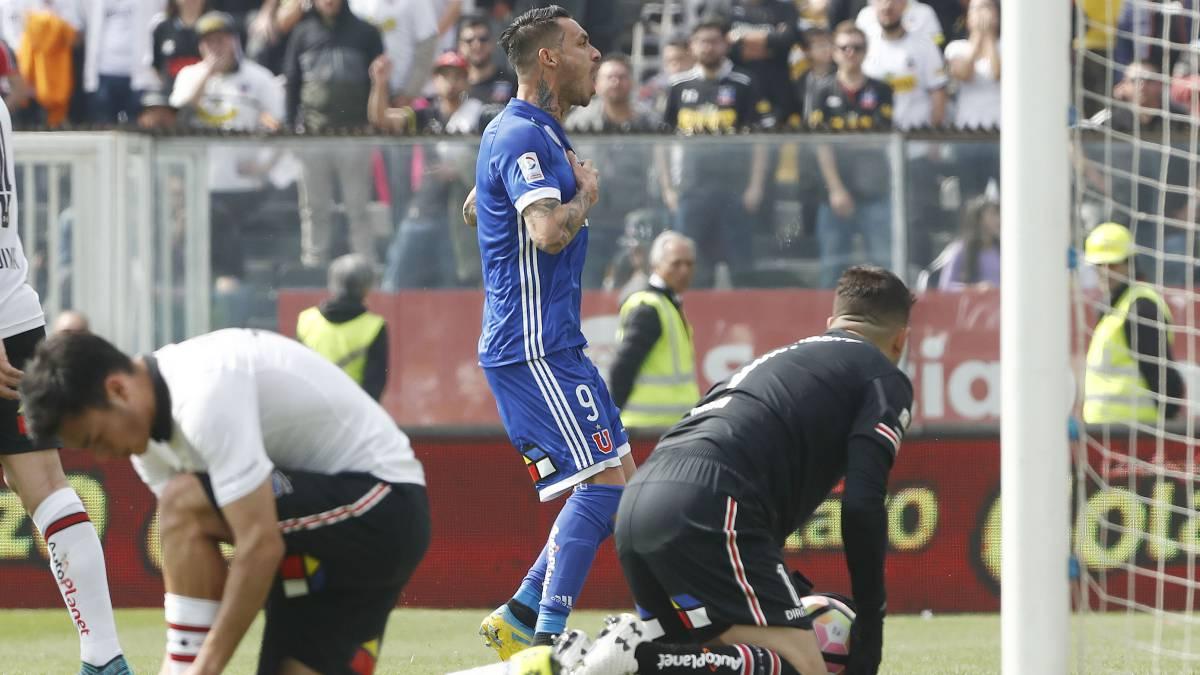 Mauricio Pinilla marcó su primer gol en clásicos - AS Chile