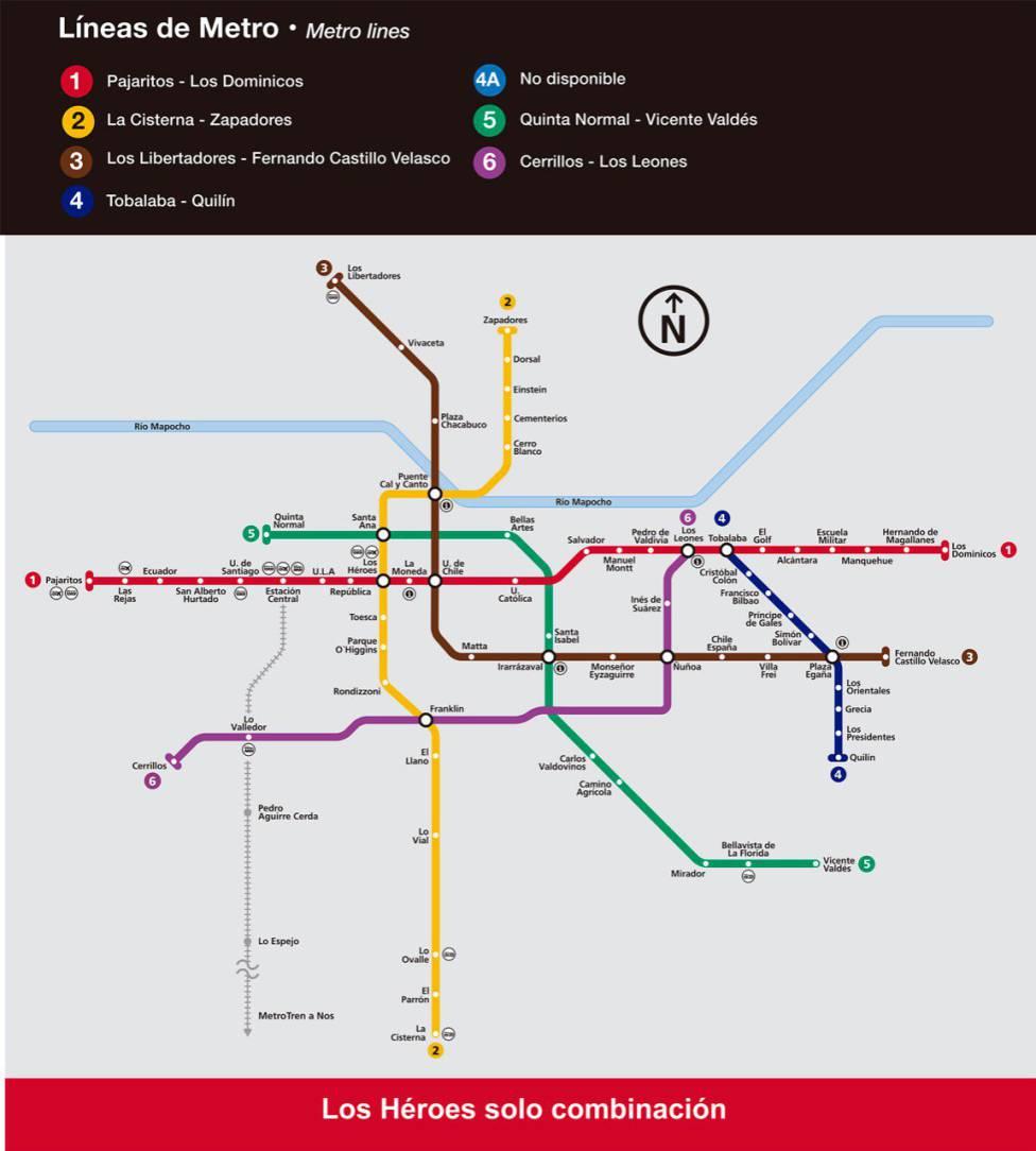 Metro De Santiago Hoy Horarios Y Estaciones De Metro Operativas As Chile